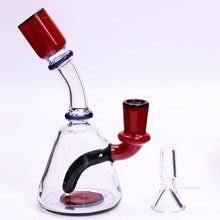 "Load image into Gallery viewer, 6"" Beaker Bong/Rig w/ Downstem Percolator - Burnt Mushroom"