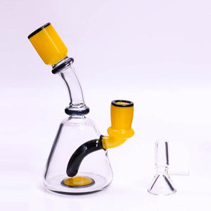 "6"" Beaker Bong/Rig w/ Downstem Percolator - Burnt Mushroom"
