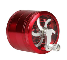 Load image into Gallery viewer, 63mm Aluminium Alloy Grinder w/ 4 Chambers and Built-in Hand Crank - Burnt Mushroom