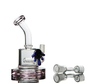 "6.5"" Straight Dab Rig w/ Inline Percolator - Burnt Mushroom"