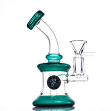 "Load image into Gallery viewer, 6.7"" Beaker Bong w/ Downstem Percolator and Crystal Ball - Burnt Mushroom"