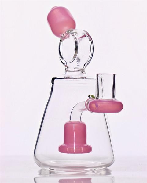 "7"" Beaker Bong/Dab Rig w/ Showerhead Percolator - Burnt Mushroom"