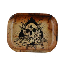 "Load image into Gallery viewer, 7.3"" Metal Ash Tray w/ 5 Unique Designs - Burnt Mushroom"