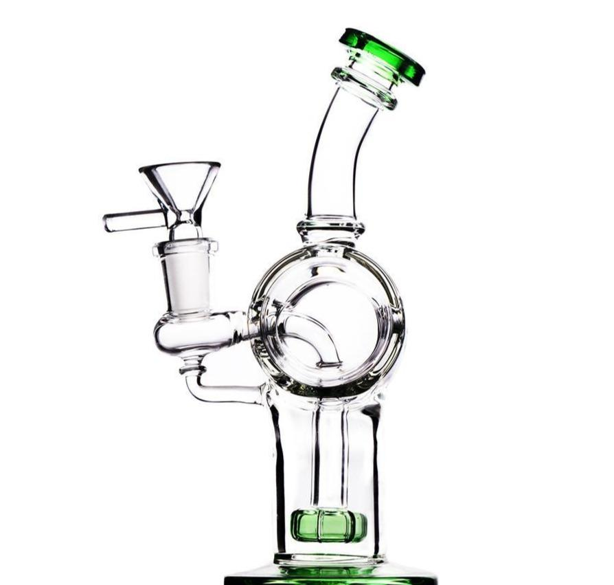 "7.6"" Recycler Straight Bong w/ Circ Percolator - Burnt Mushroom"