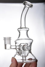 "Load image into Gallery viewer, 7.9"" Beaker Bong w/ Swiss Percolator - Burnt Mushroom"
