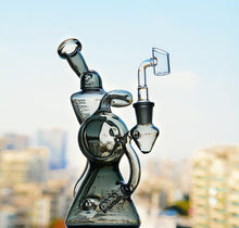 "Load image into Gallery viewer, 8.8"" Beaker Dab Rig w/ Downstem Percolator and Recycler - Burnt Mushroom"