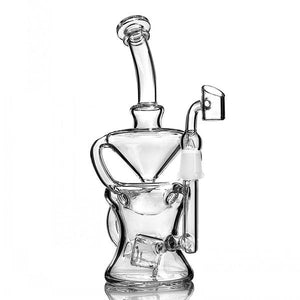 "9.4"" Beaker Recycler Dab Rig w/ Cube Percolator - Burnt Mushroom"