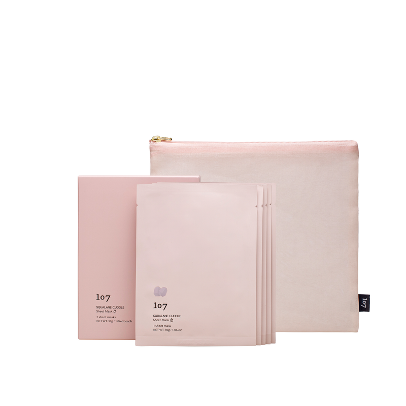SQUALANE CUDDLE Sheet Mask with bojagi pouch (no background)