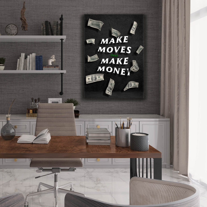 Make Money Moves (Canvas)
