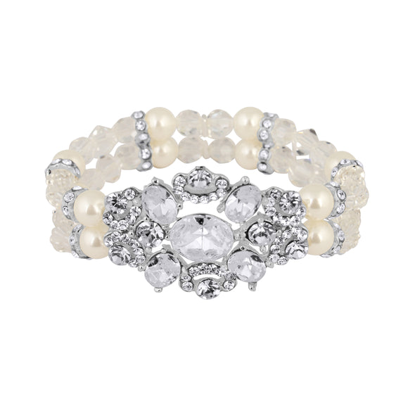Two-Row Pearl Stretch Bracelet