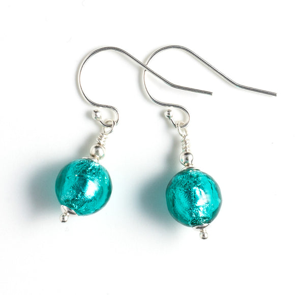 Sea Green Murano Earrings