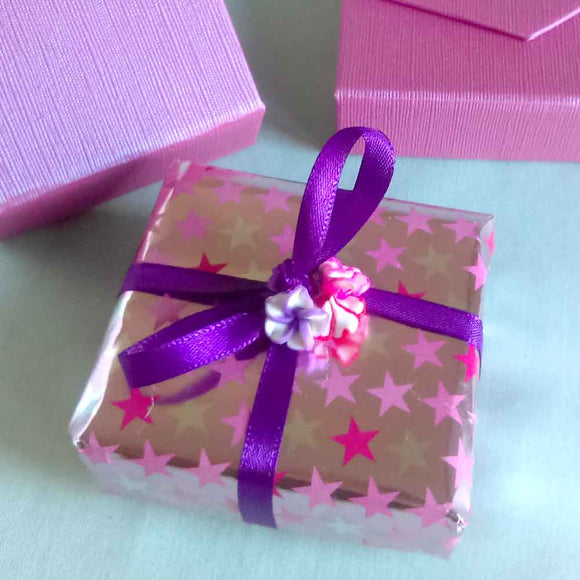 Gift wrapped Purple Gift Box