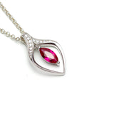 Lab Ruby Silver Pendant