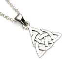 Triangular Sterling Silver Celtic Pendant