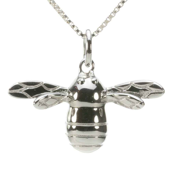 Sterling Silver Bee Pendant
