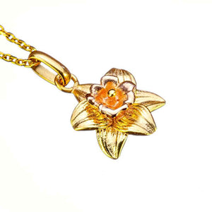 Daffodil Birthflower Pendant - March