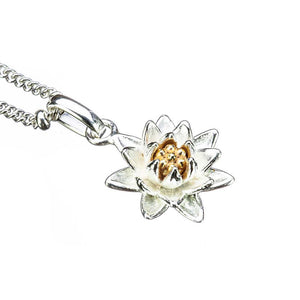 Water Lily Birthflower Pendant - July