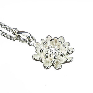 Chrysanth Birthflower Pendant on white background