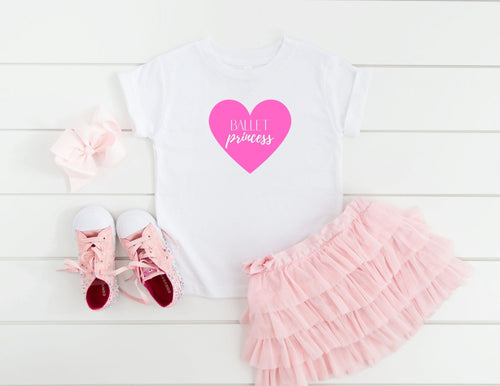 Ballet Princess Toddler Short Sleeve Tee - The Terrace