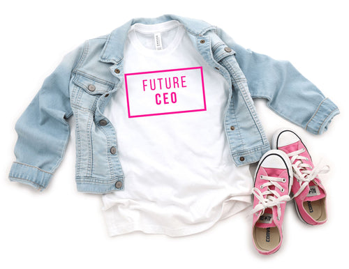 Pink Future CEO Youth Short Sleeve T-Shirt - The Terrace