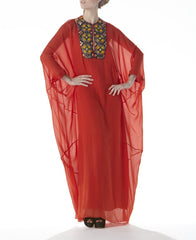 Flora Embroidery Batwing Kaftan