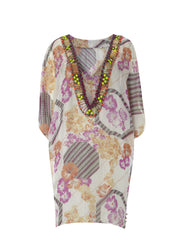 Chiffon Embroidered Tunic Top