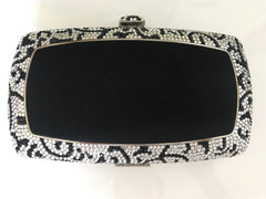 Swarovski crystal black clutch