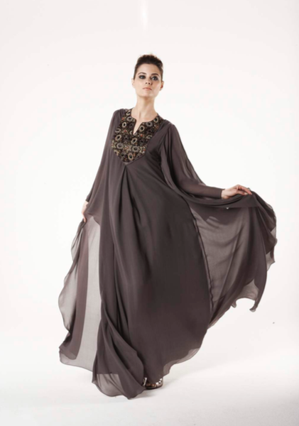 LATTICE BEADING WATERFALL KAFTAN