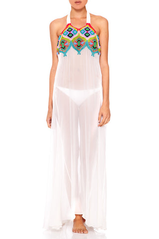 AMIRA Embroidery Halterneck Dress