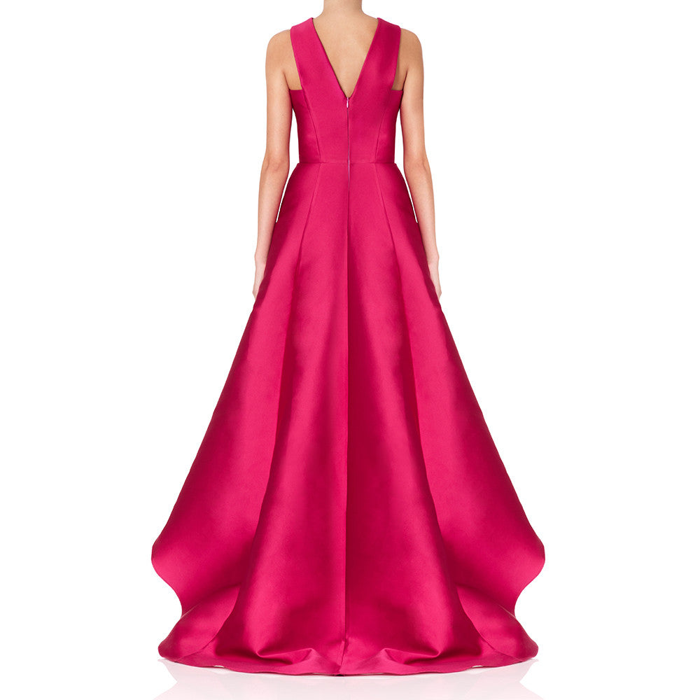 Floriana Raspberry Fully embroidered Ball gown
