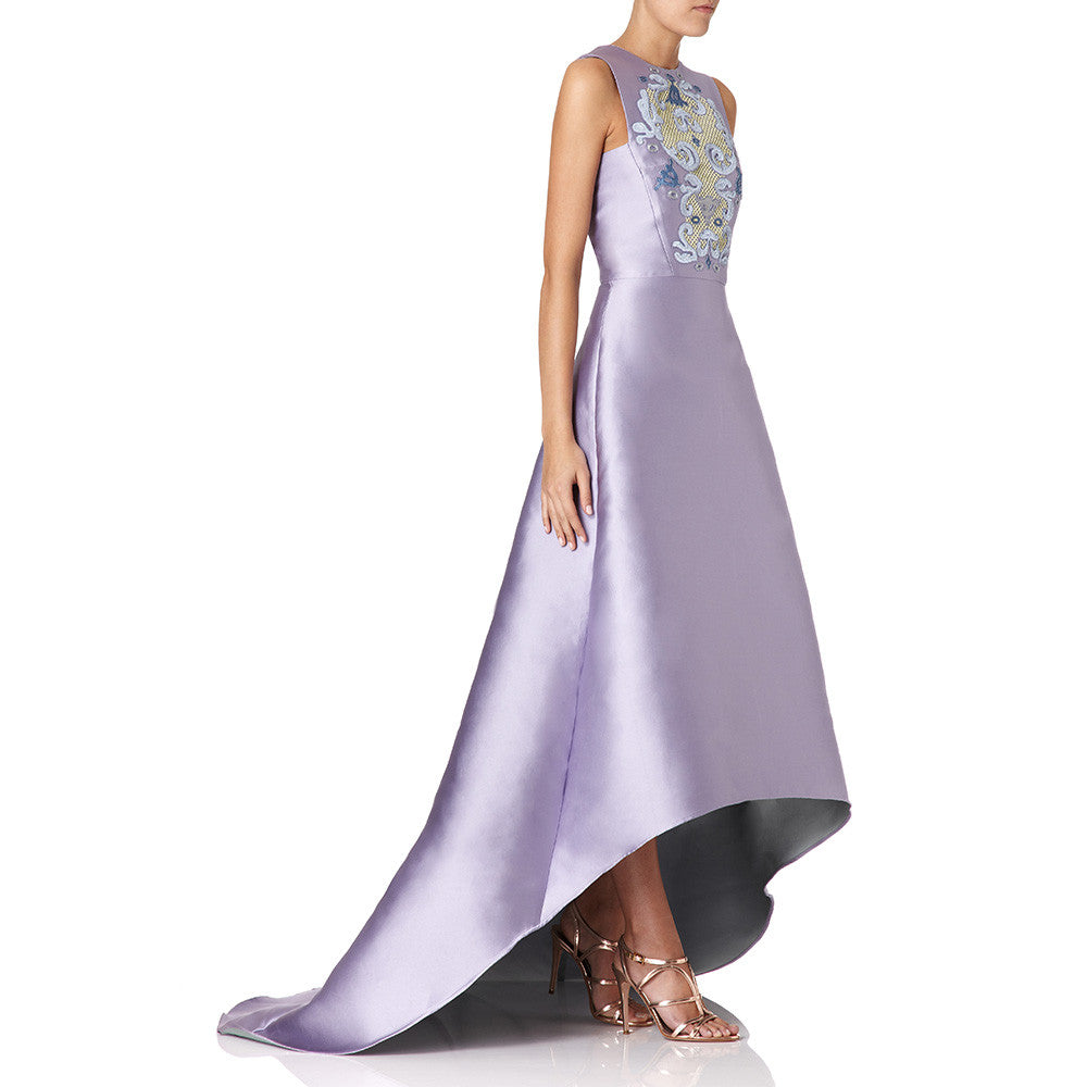 Lilac Floriana embroidered  EVENING ball gown