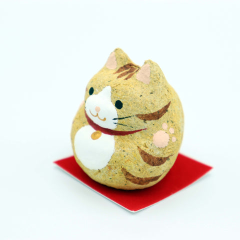 Paulownia doll - Cat Red Tora