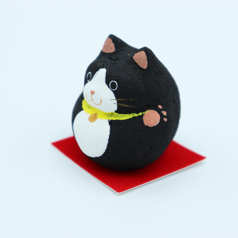Paulownia doll - Cat Black