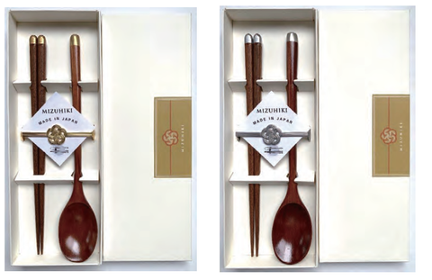 Mizuhiki Gift Set (Chopsticks, Chopsticks Rest and Spoon)