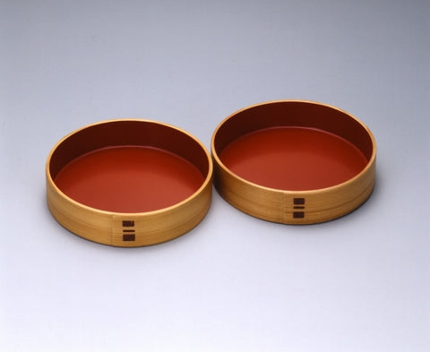Magewappa Bent Woodware - 2 Plates Set
