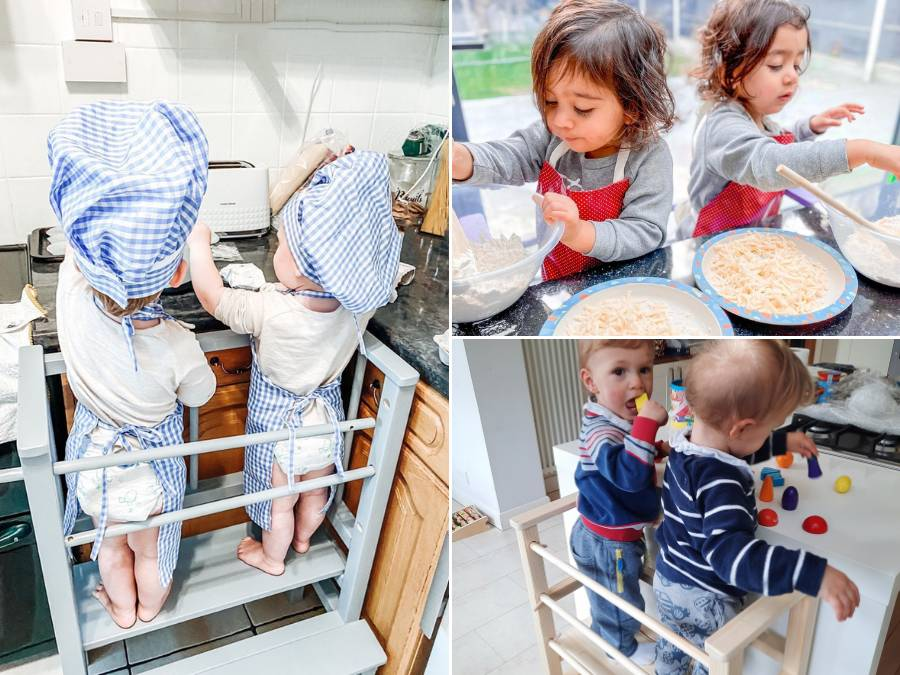 Twin learning tower: develops empathy and sibling cooperation