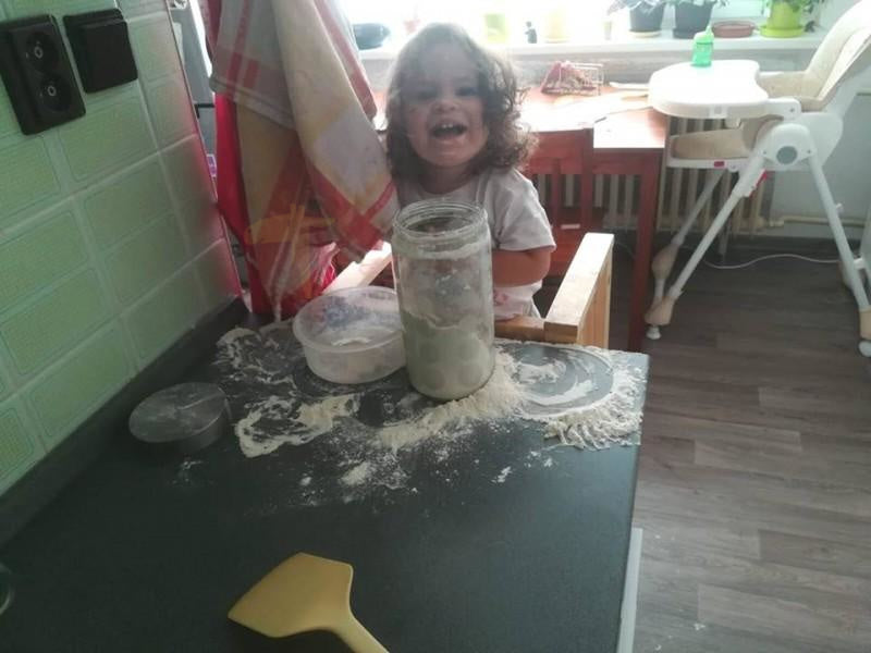 Making brownies with your little helpers