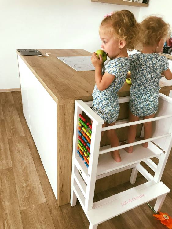 Learning tower for twins and siblings