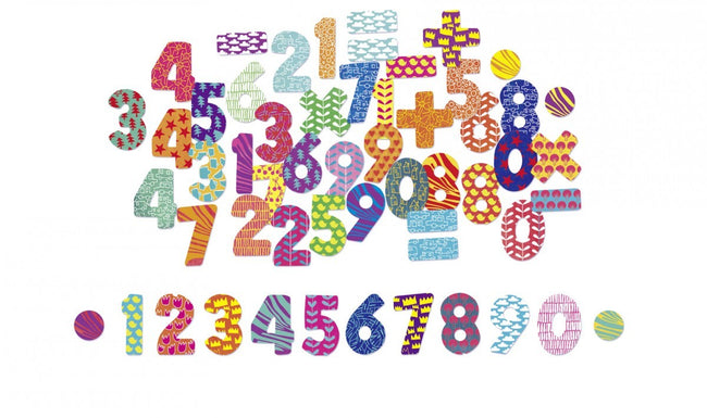 Magnetic numbers - chalkboard magnets