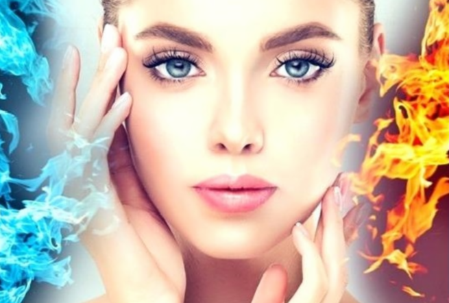 Skin Month Offer: Fire & Ice Facial course of 5 +3 LED Sessions +FREE Gift (save €351)