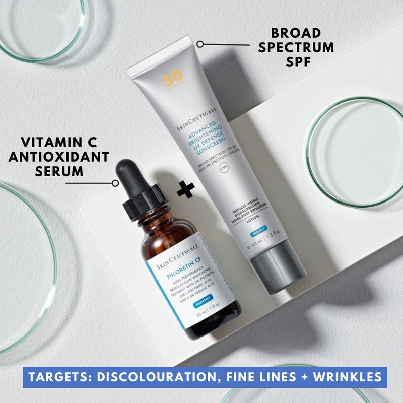 PRE-ORDER March 2021: SkinCeuticals Phlorentin CF Double Defence Kit (Normal/Combination Skin) with FREE SPF (save €52)