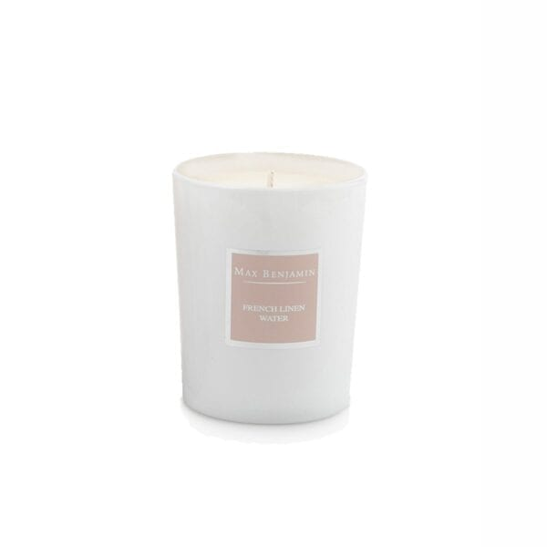 MAX BENJAMIN FRENCH LINEN WATER LUXURY NATURAL CANDLE