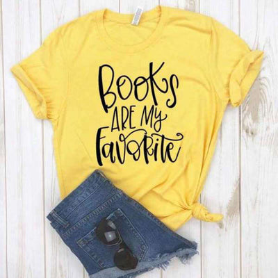 T-Shirt Citation<br /> Books Are My Favorite