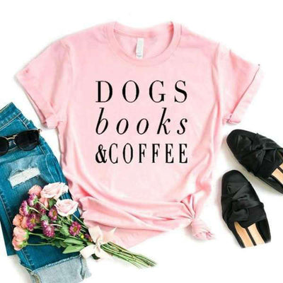 T Shirt Dogs Books Coffee
