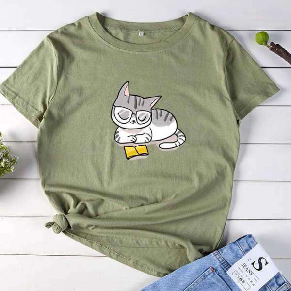 T-Shirt Citation<br /> Chat Lecteur