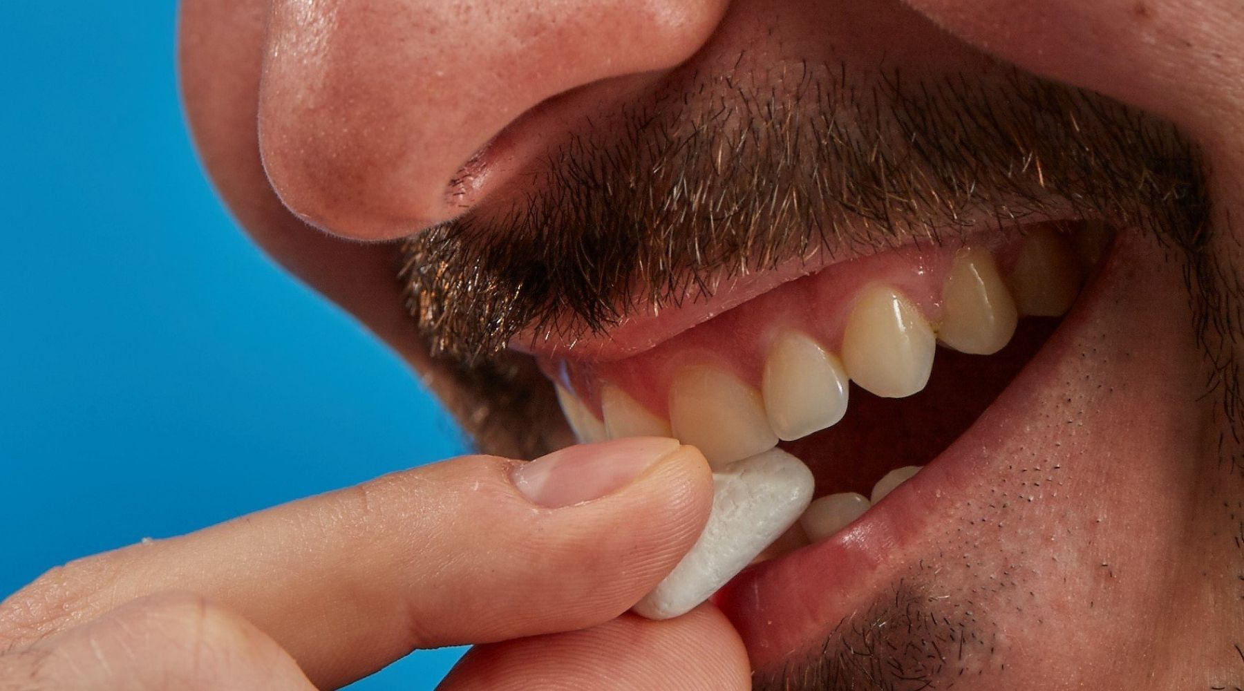 Mouth Off gets rid of bad breath because it removes the cause of odor- bad breath molecules.