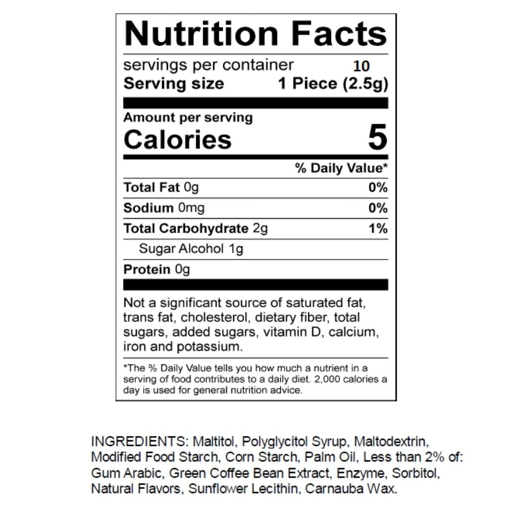 Mouth Off Nutrition Facts