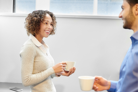 Coffee break at work can give you bad breath