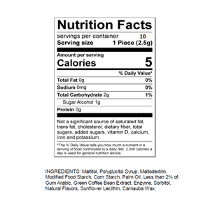 Load image into Gallery viewer, Mouth Off Nutrition Facts Panel