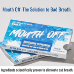 Mouth Off Dissolving Gum The Solution to Bad Breath 2 pack